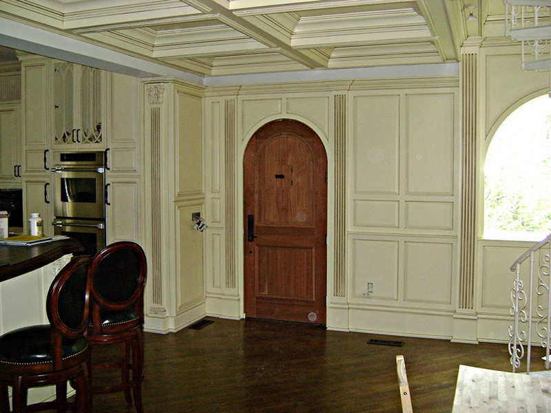 Wall To Wall Paneling Custom Panels Custom Coffered Ceiling